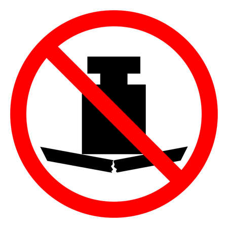 No Heavy Load Symbol Sign ,Vector Illustration, Isolate On White Background Label .EPS10