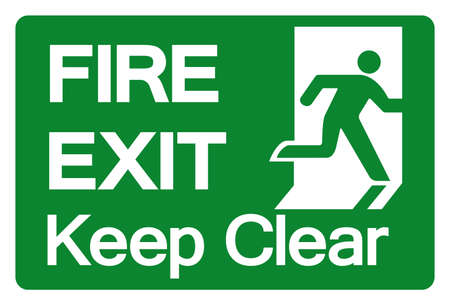 Fire Exit Keep Clear Symbol Sign, Vector Illustration, Isolate On White Background Label.