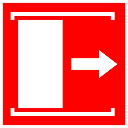 Door Slides Right To Open Symbol Sign, Vector Illustration, Isolate On White Background Label . Ilustração