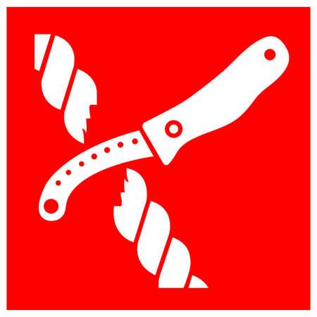 Life raft knife Symbol Sign, Vector Illustration, Isolate On White Background Label .