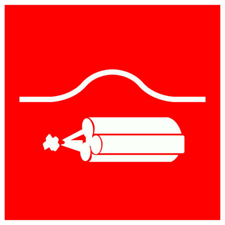 Location Of Bomb Bag Symbol Sign, Vector Illustration, Isolate On White Background Label . Ilustração