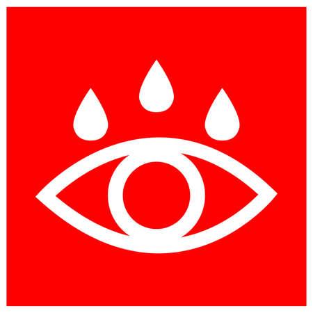 Eye Wash Bay Symbol Sign, Vector Illustration, Isolate On White Background Label . Ilustração
