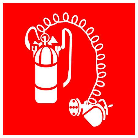 Breathing Apparatus Symbol Sign, Vector Illustration, Isolate On White Background Label . Ilustração