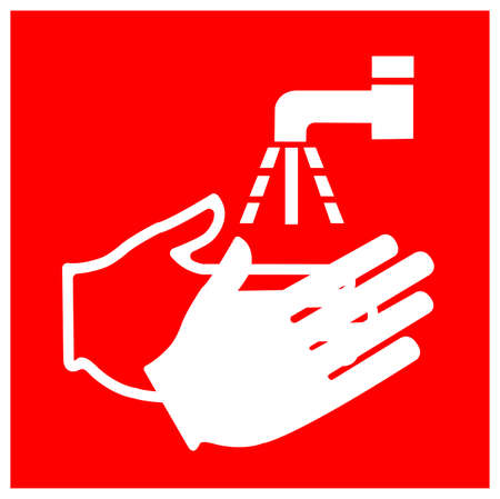 Wash Your Hand Symbol Sign,Vector Illustration, Isolated On White Background Label.