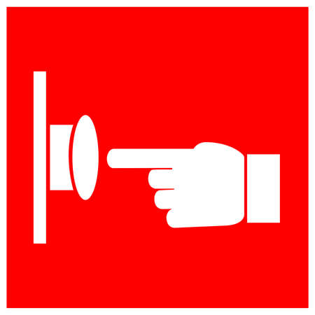 Emergency Stop Push Button Symbol Sign, Vector Illustration, Isolate On White Background Label . Ilustração