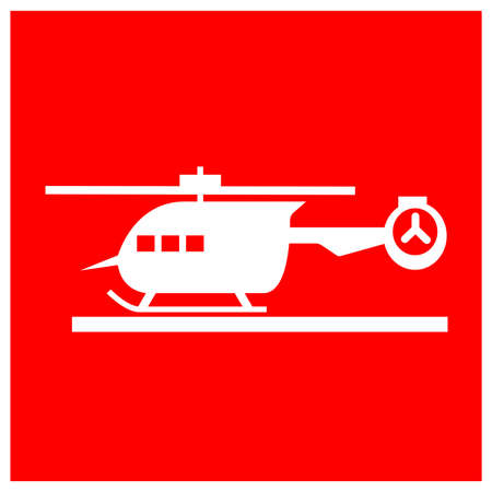 Helicopter Pad Symbol Sign, Vector Illustration, Isolate On White Background Label .