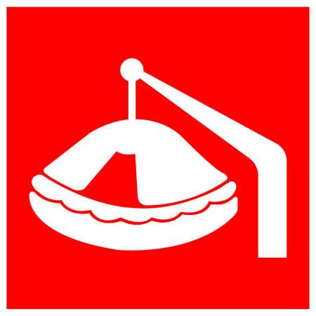 life Raft Symbol Sign, Vector Illustration, Isolate On White Background Label .