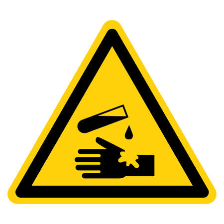 Corrosive Material Symbol ,Vector Illustration, Isolate On White Background Label.