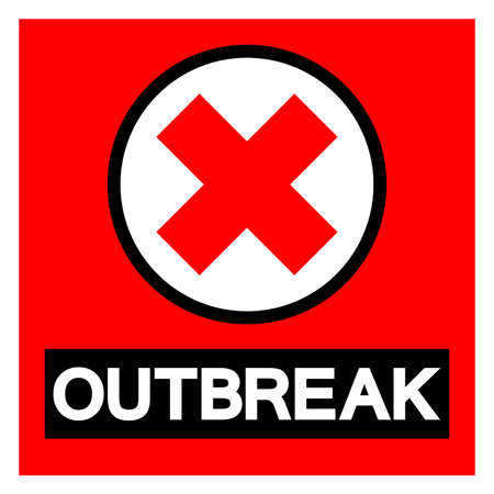 Outbreak Symbol Sign, Vector Illustration, Isolated On White Background Label.