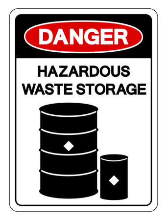 Danger Hazadous Waste Storage Symbol