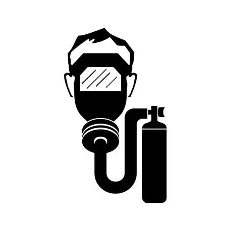 Wear Breathing Apparatus In This Area Black Icon