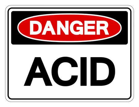 Danger Acid Symbol Sign,Vector Illustration, Isolate On White Background Label. EPS10 Ilustração