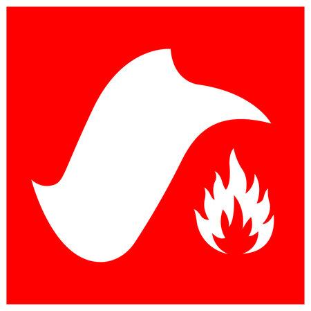 Fire Blanket Symbol Sign, Vector Illustration, Isolate On White Background Label. EPS10