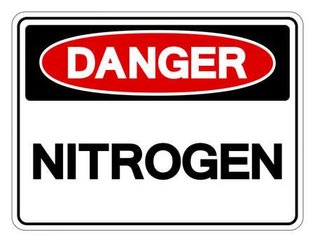 Danger Nitrogen Symbol Sign,Vector Illustration, Isolate On White Background Label. EPS10