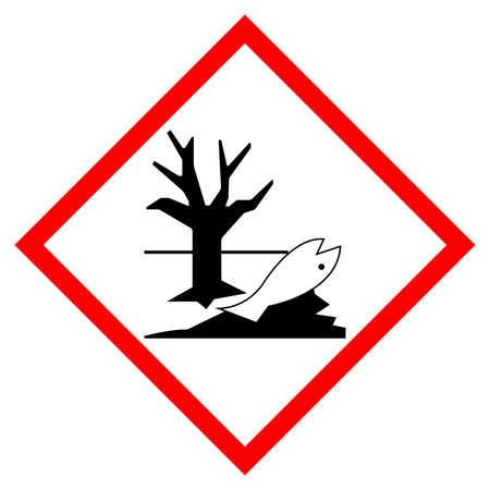Environmental Hazard Symbol Sign, Vector Illustration, Isolate On White Background, Label .EPS10 Ilustração