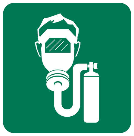 Wear Breathing Apparatus In This Area Symbol Sign,Vector Illustration, Isolated On White Background Label. EPS10