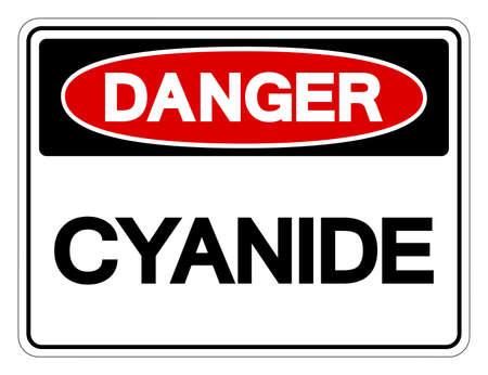 Danger Cyanide Symbol Sign, Vector Illustration, Isolated On White Background Label .EPS10