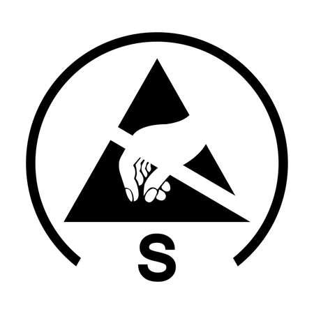Antistatic Film Symbol Sign Ilustração