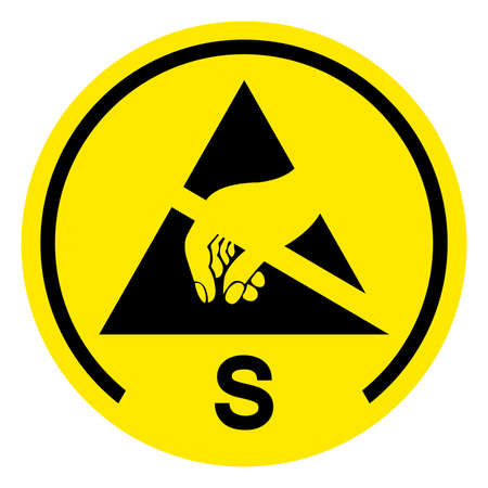 Antistatic Film Symbol Sign, Vector Illustration, Isolated On White Background Label .EPS10
