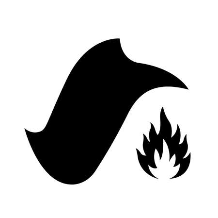 Fire Blanket Black Icon, Vector Illustration, Isolate On White Background Label