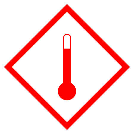 High Temperature Symbol Sign, Vector Illustration, Isolate On White Background Label. EPS10
