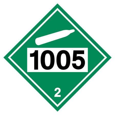UN1005 Class 2 Ammonia Symbol Sign , Vector Illustration, Isolate On White Background Label . Ilustração