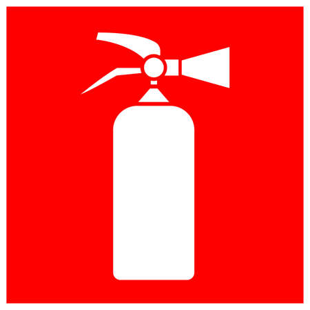 Fire Extinguisher Symbol Sign, Vector Illustration, Isolate On White Background Label.