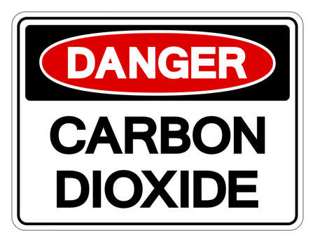 Danger Carbon Dioxide symbol Sign, Vector Illustration, Isolated On White Background Label .