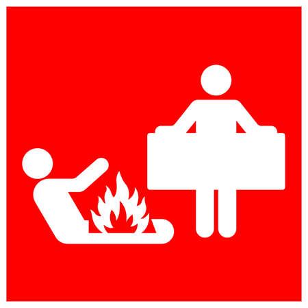 Fire Blanket Symbol Sign, Vector Illustration, Isolate On White Background Label.