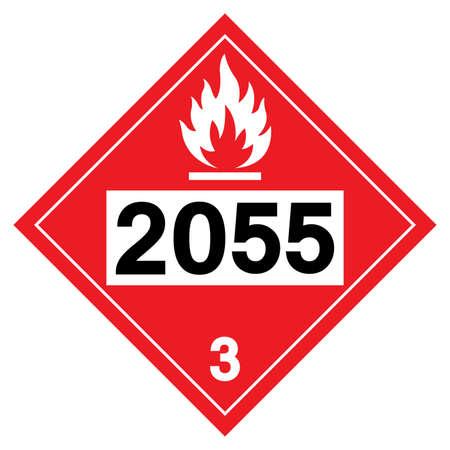 Styrene monomer UN2055 Symbol Sign, Vector Illustration, Isolate On White Background, Label . Vector Illustration