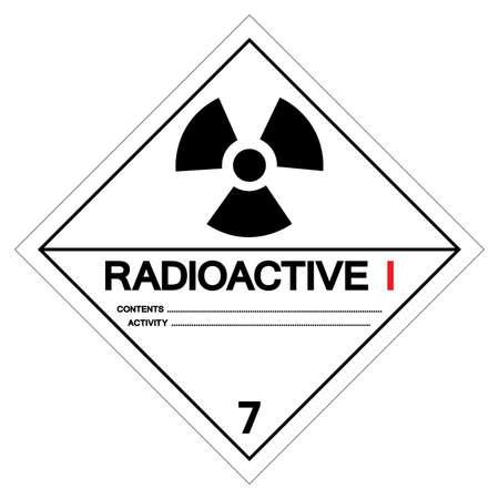 Radioactive I Symbol Sign, Vector Illustration, Isolate On White Background, Label .EPS10