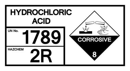 Hydrochloric Acid Symbol Sign, Vector Illustration, Isolate On White Background, Label .EPS10