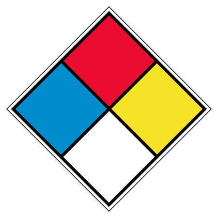 NFPA Blank Symbol Sign, Vector Illustration, Isolate On White Background Label. EPS10 Ilustração