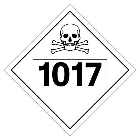 UN1017 Class 2 Chlorine Symbol Sign, Vector Illustration, Isolate On White Background, Label .EPS10