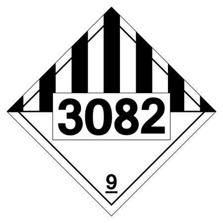 UN3082 Environmentally Hazardous Substances Liquid Symbol Sign ,Vector Illustration, Isolate On White Background Label .EPS10  イラスト・ベクター素材