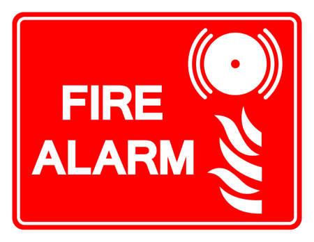 Fire Alarm Symbol Sign, Vector Illustration, Isolate On White Background Label. EPS10
