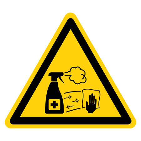 Disinfect Work Surface and Equipment On A Regular Basis Symbol Sign,Vector Illustration, Isolated On White Background Label. EPS10