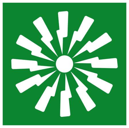 Emergency Fire Alarm Symbol Sign, Vector Illustration, Isolate On White Background Label. EPS10  イラスト・ベクター素材