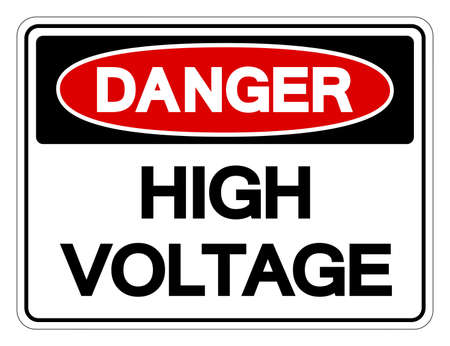 Danger High Voltage Symbol Sign, Vector Illustration, Isolated On White Background Label .EPS10  イラスト・ベクター素材
