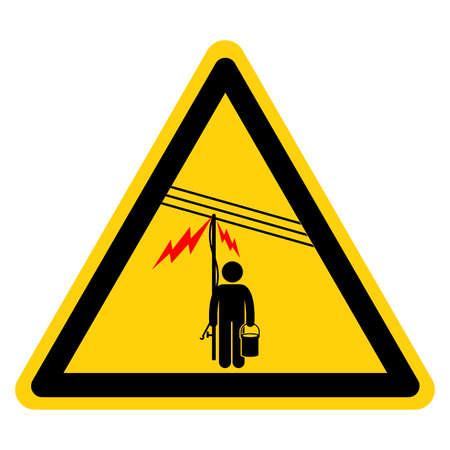 Danger Electricity Symbol Sign ,Vector Illustration, Isolate On White Background Label. EPS10