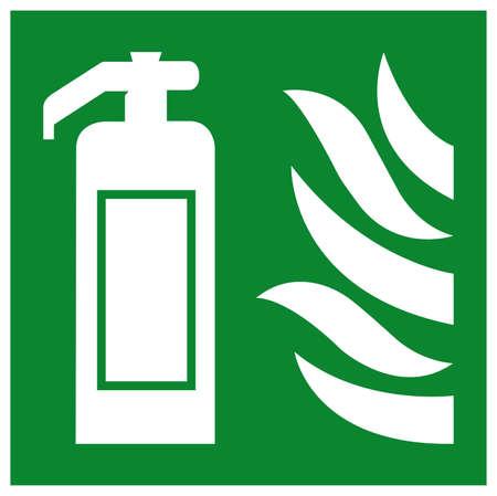 Fire Extinguisher Symbol Sign, Vector Illustration, Isolate On White Background Label. EPS10  イラスト・ベクター素材