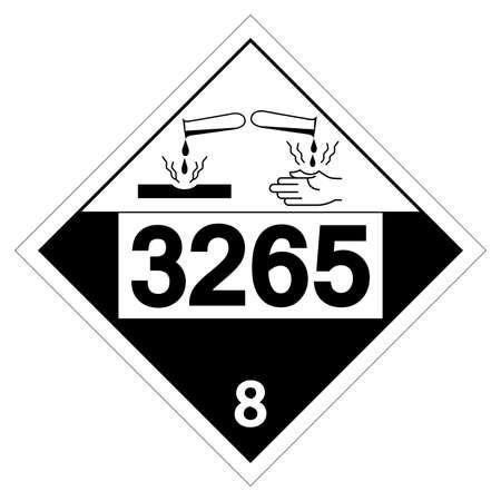 UN3265 Corrosive Liquid Symbol Sign, Vector Illustration, Isolate On White Background Label. EPS10