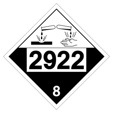 UN2922 Class 8 Corrosive Liquids Toxic Symbol Sign, Vector Illustration, Isolate On White Background Label.