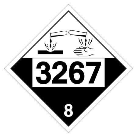 UN3267 Corrosive Liquid Symbol Sign, Vector Illustration, Isolate On White Background Label.