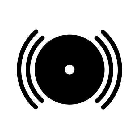 Fire Alarm Black Icon ,Vector Illustration, Isolate On White Background Label. EPS10  イラスト・ベクター素材