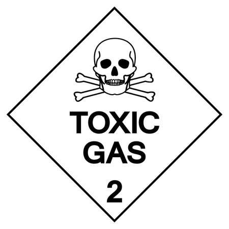 Toxic Gas Label Symbol Sign ,Vector Illustration, Isolate On White Background Label . Illusztráció