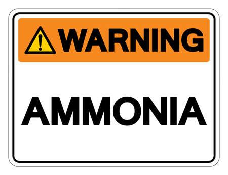 Warning Ammonia Symbol Sign,Vector Illustration, Isolate On White Background Label.