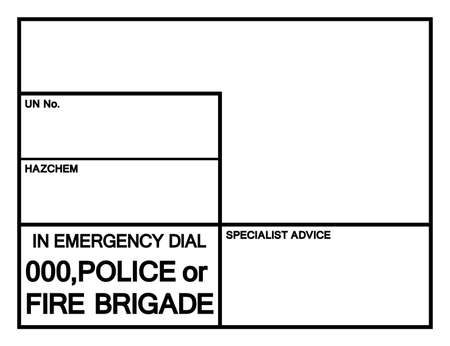Blank Emergency Information Panel Symbol Sign, Vector Illustration, Isolate On White Background, Label . Illusztráció