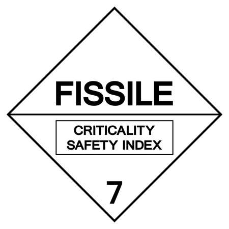 Fissile Criticality Safety Index Label Symbol Sign ,Vector Illustration, Isolate On White Background Label .