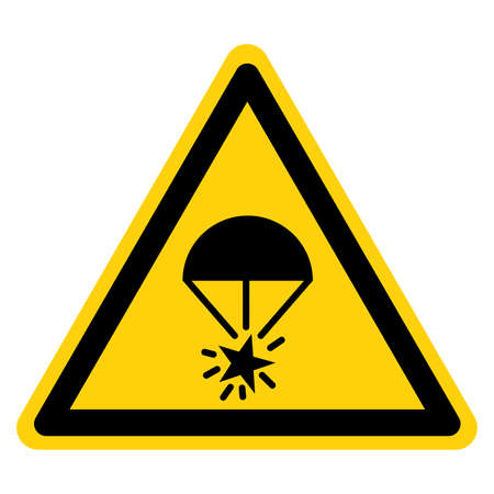 Rocket Parachute Flare Symbol Sign, Vector Illustration, Isolate On White Background Label.